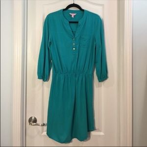 Lilly Pulitzer jersey dress in teal color …